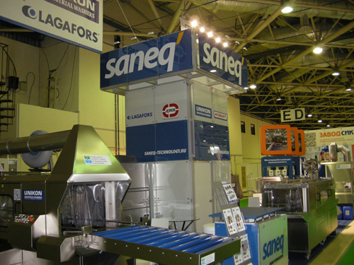 Lagafors Russian distributor Saneq Technology exhibits at Agroprodmash 2012