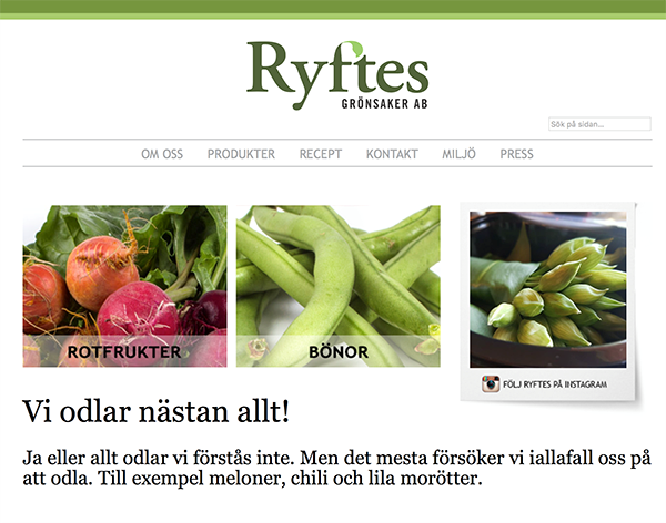 Gotland's foremost vegetable producer chose us on a recommendation